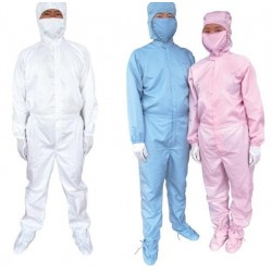 Quần áo phòng sạch chống tĩnh điện – Bộ liền